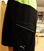 FAAS Long Woven Shorts 510250-01 Black / Jasmine Green